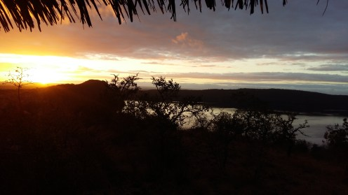 View from the little hut at Lake Chala