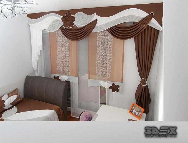 Unique Curtains Design For Lovely House Ambient on Bedroom Curtain Ideas  id=18497