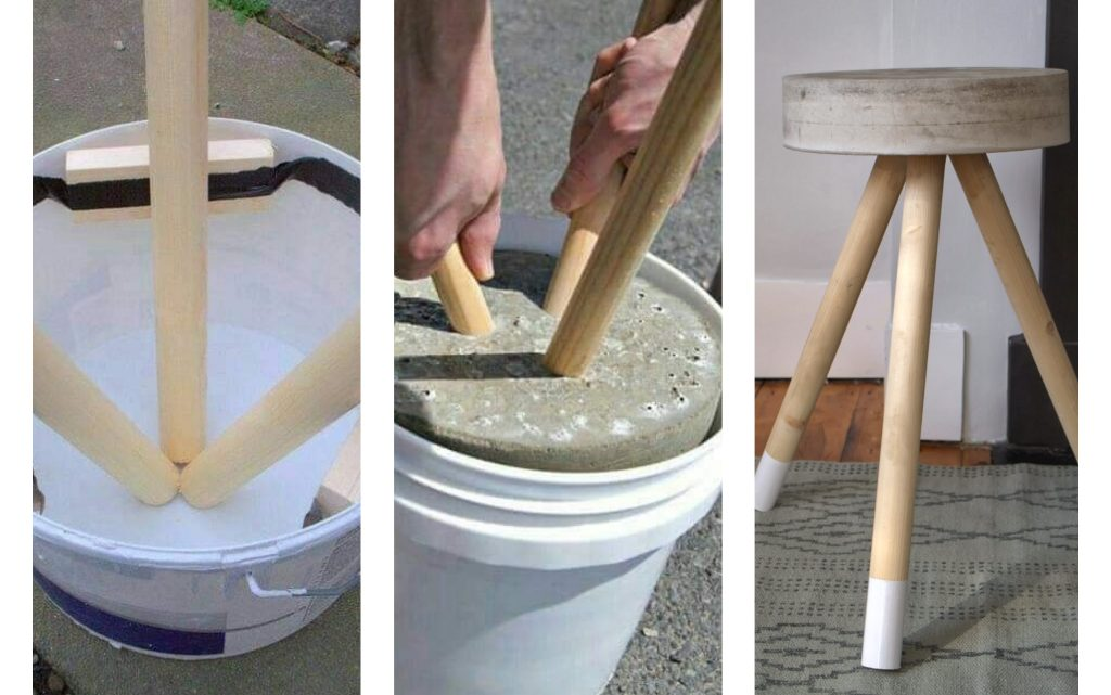 diy concrete stool and coffee table