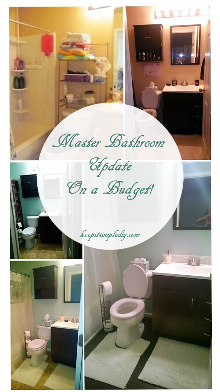 Master Bathroom Update On a Budget