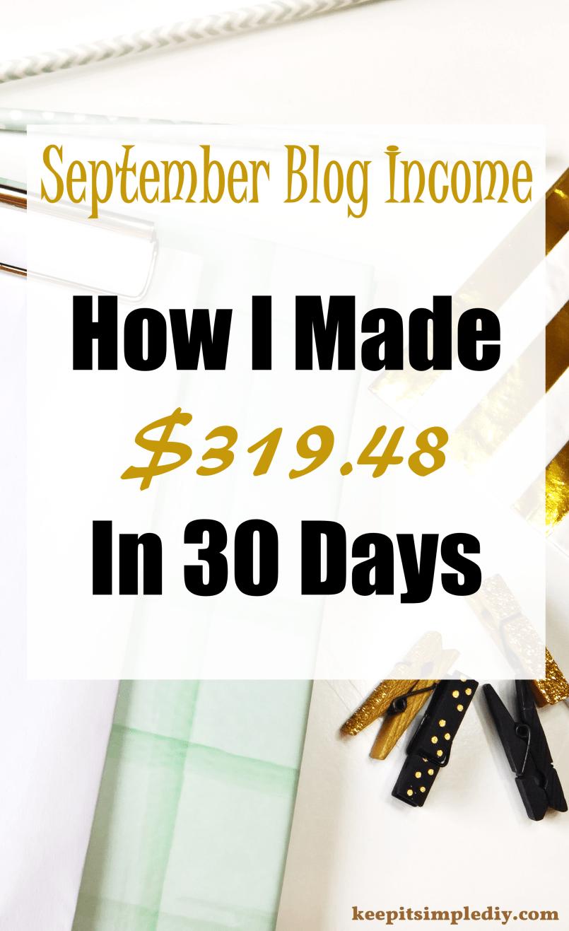 September 2017 Blog Income Report