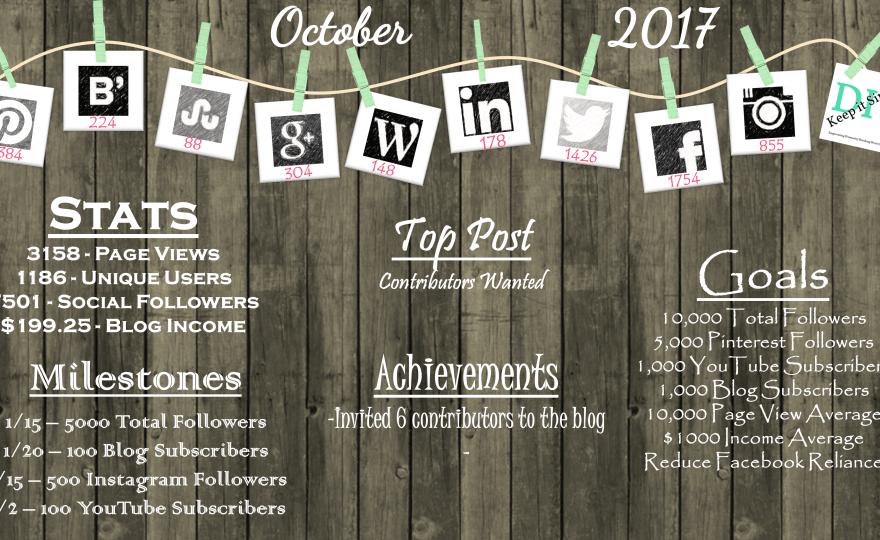 October 2017 Monthly Updates