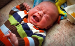 Babies cry. Talk to your pediatrician if the crying seems to be excessive, especially if you have a hard time consoling your baby.