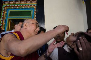 The Ancient Tibetans believed in Shamanism, and yet the Dalia Lama believes in modern medicine and helps vaccinate kids.