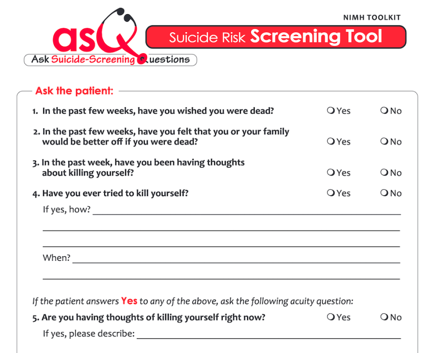 You can't ask your kids (whether you are a parent or a pediatrician) these types of screening questions if you don't know these screening questionnaires exist...