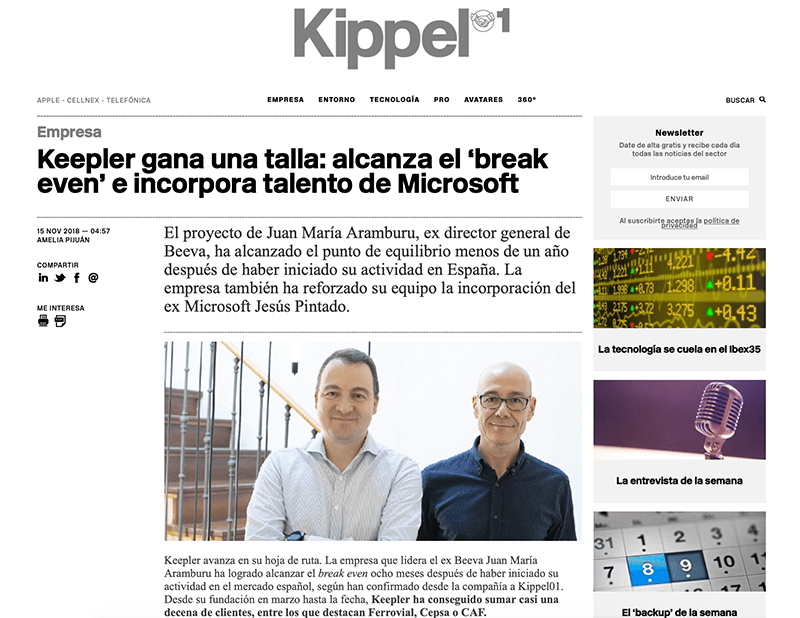 noticia Keepler en Kipple01