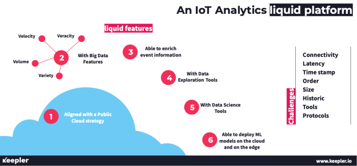 Plataforma cloud líquida IoT Analytics