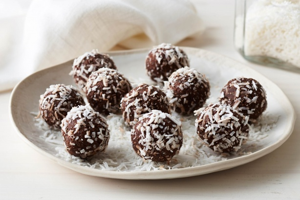 Healthy Cacao Coconut And Date Balls Recipe Keeprecipes