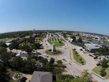 rowlett-downtown-aerial
