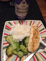 Fish and the best steamed veggie out there
