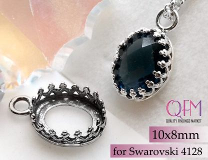 10x8mm sterling silver setting
