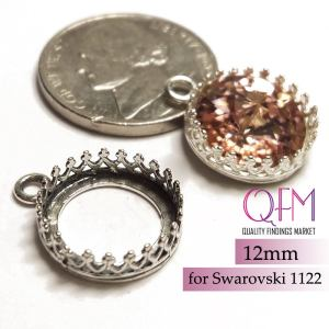 12mm round necklace setting