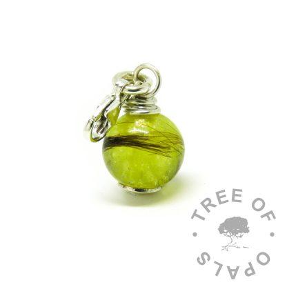 hair jewellery dangle charm chimera yellow resin sparkle mix, fits on Thomas Sabo bracelets