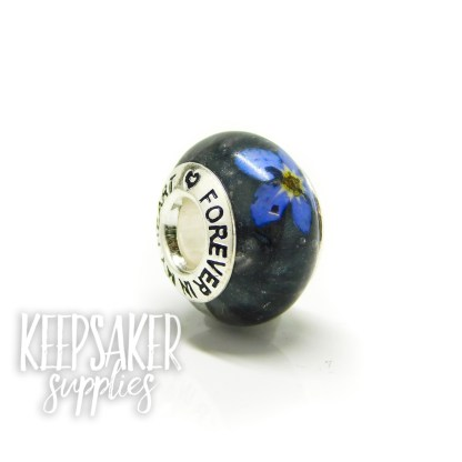 black ashes bead, forget me not. Vampire Black Resin Sparkle Mix, forget me not and Forever In My Heart core