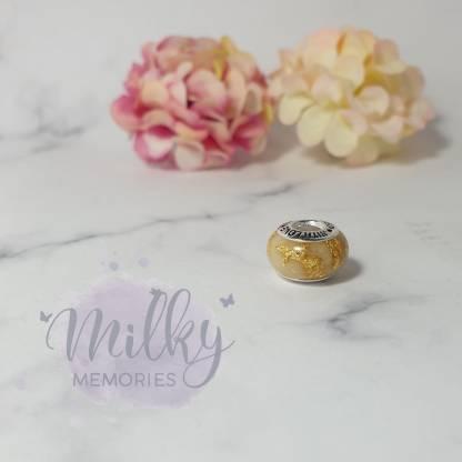 breastmilk bead gold leaf - image credit Milky Memories
