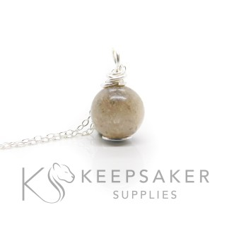 Silver Orb Necklace Kit classic ashes orb silver wire wrapped setting, clear resin and ashes