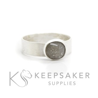 classic cremation ashes ring with brushed 6mm wide band
