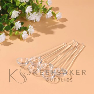 2ml clear spoons for measuring cremation ashes for kits