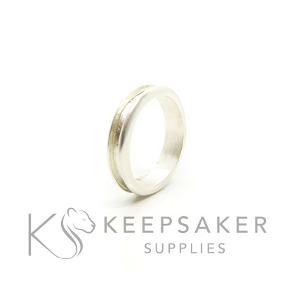 channel ring setting in solid Argentium silver, perfect for filling and turning