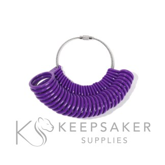 ring sizers for reuse, ideal for finding your client's ring size for keepsake and memorial jewellery
