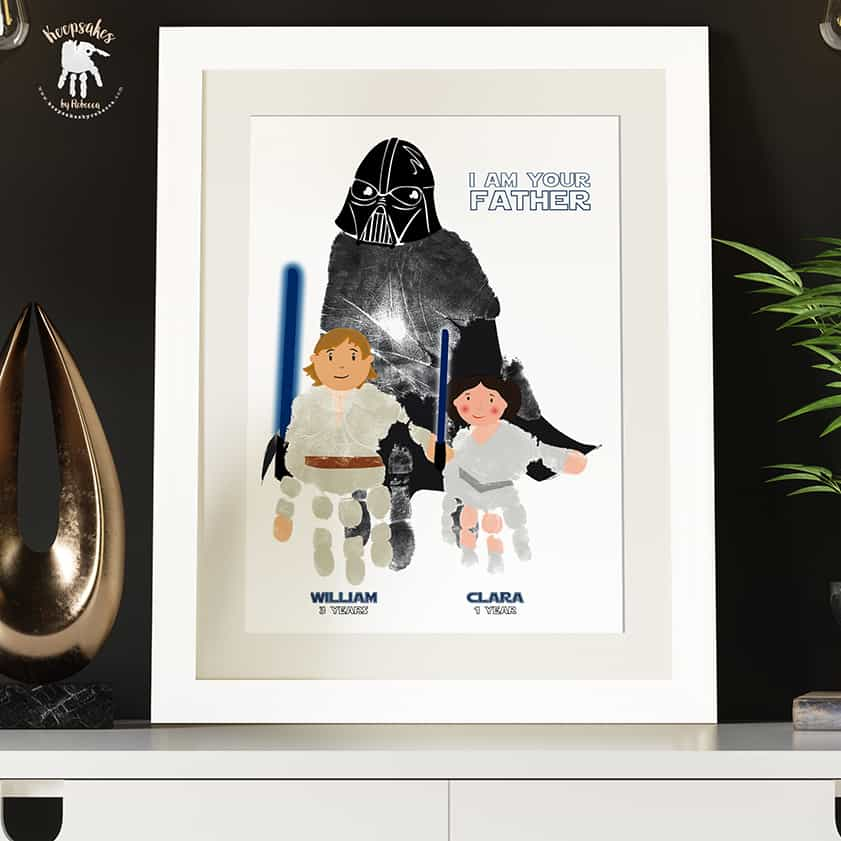 Dad handprints keepsake Starwars
