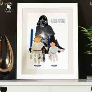 Starwars Handprints (can include Dad's handprint)