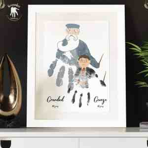 Harry Wizard and Dumbledore Handprint Art