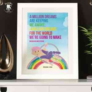 The Greatest Showman- Million Dreams Handprint