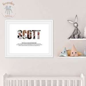 Personalised New Baby Gift | Photo Montage
