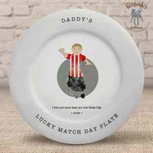 Football themed gift for dad – plate