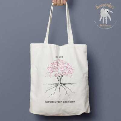Personalised tote bag, gift from the class, teacher gift