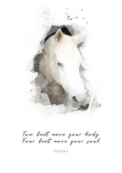 horse portrait | Horse Quote | Horse Illustration