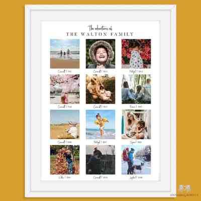 Holiday photo keepsake | Personalised Photo Keepsake | Personalised family Print
