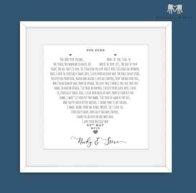 Personalised first dance gift