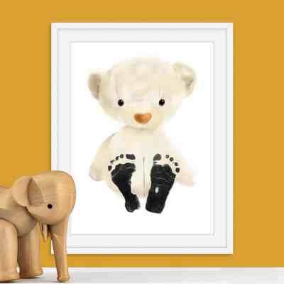 Baby Footprint Kit - Teddy