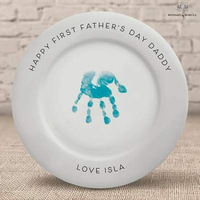 Handprint plate- personalised gift for Daddy - first father's day gift