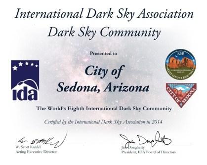 IDA SEDONA Certificate 2014