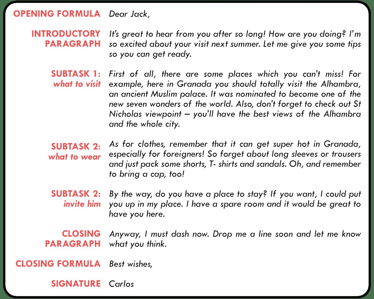 Como Escribir Un Email Informal Para Fce Writing
