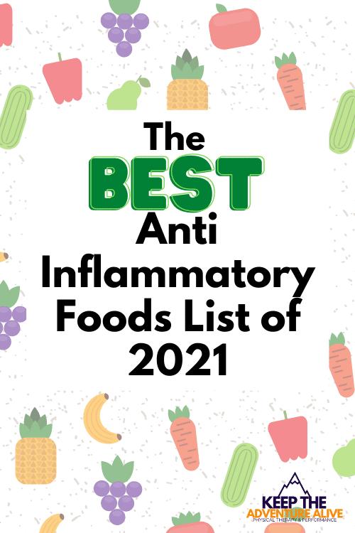 anti inflammatory foods list pdf