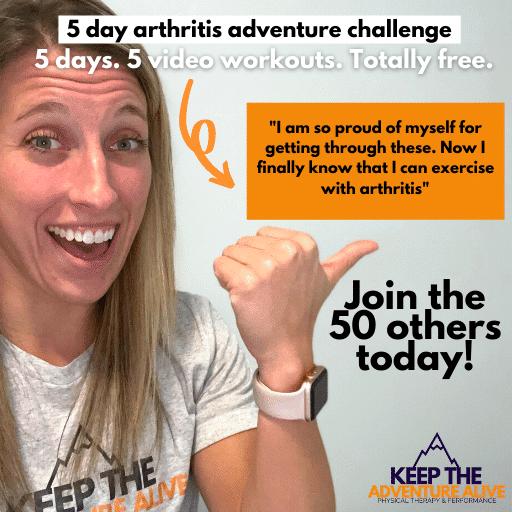 5 day arthritis adventure challenge