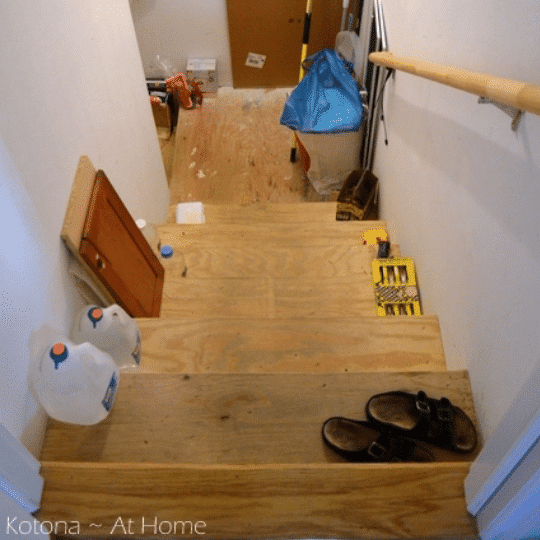 messy stairs
