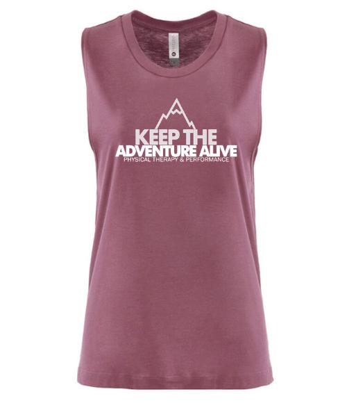 Keep the adventure alive women's tank top