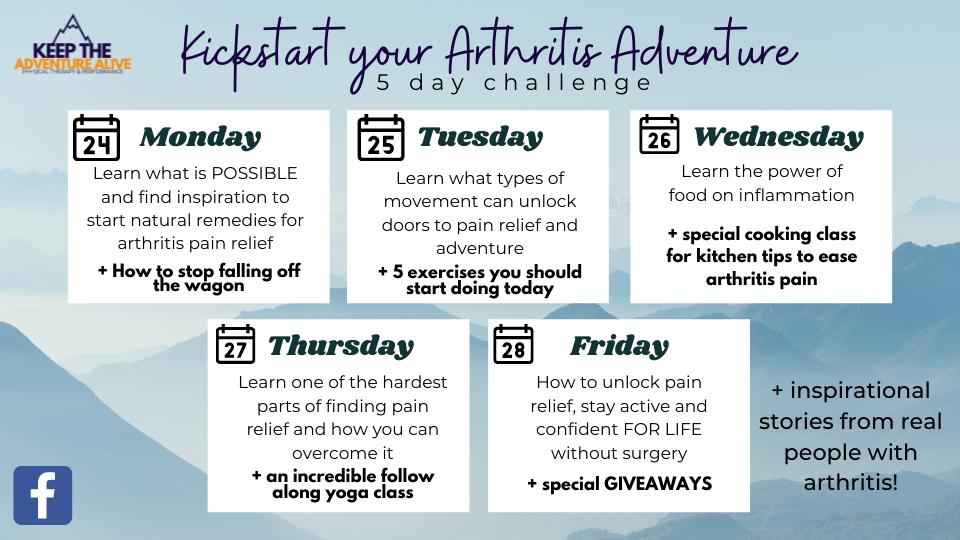 kickstart your arthritis adventure
