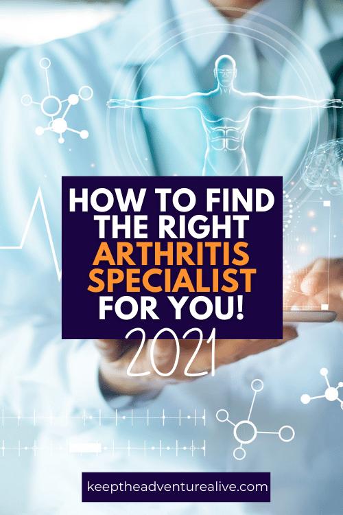 find the best arthritis specialist