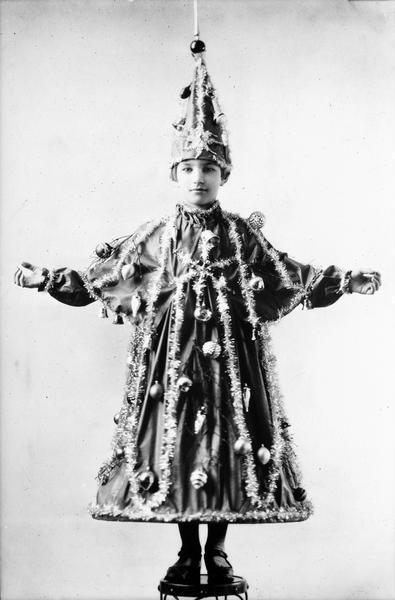 Girl Dressed as Christmas Tree Angus B. McVicar.