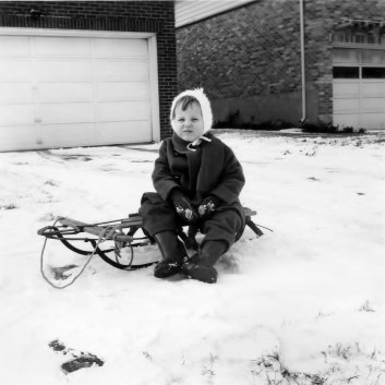 Sledding Dec 1961