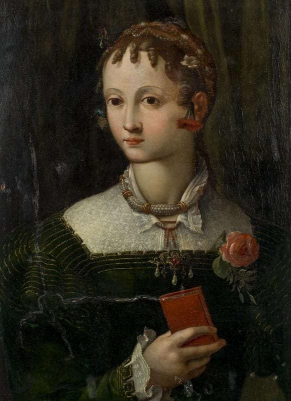 School of Parma (16th Century) Portrait of a Girl with a Red Book Sold for £6,000
