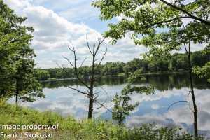 clouds reflecting on waters of moosehead lake