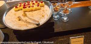 desserts at Roof restaurant Salt lake city