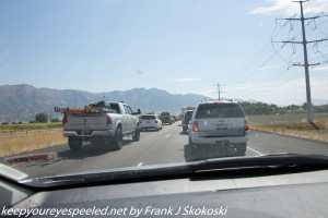 traffic on Interstate 15 Utah